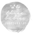 three babies photography logo